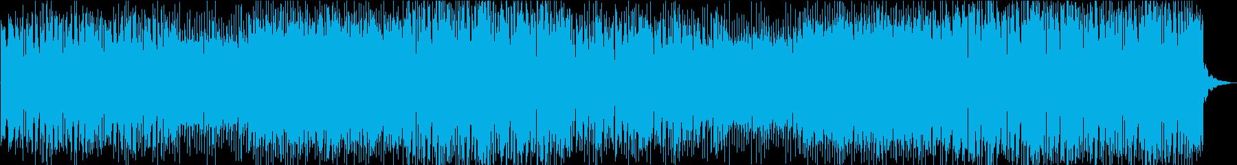 勢いのあるアップテンポなパンクロックの再生済みの波形