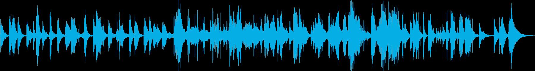 ピアノ~アメイジンググレイス愛のささやきの再生済みの波形