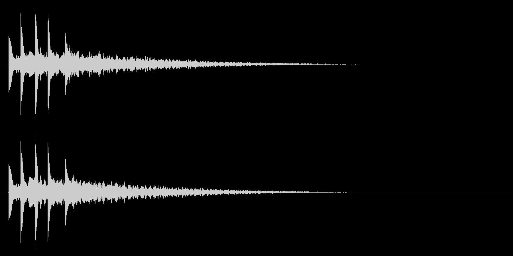 パソコンの起動音風ジングル3の未再生の波形