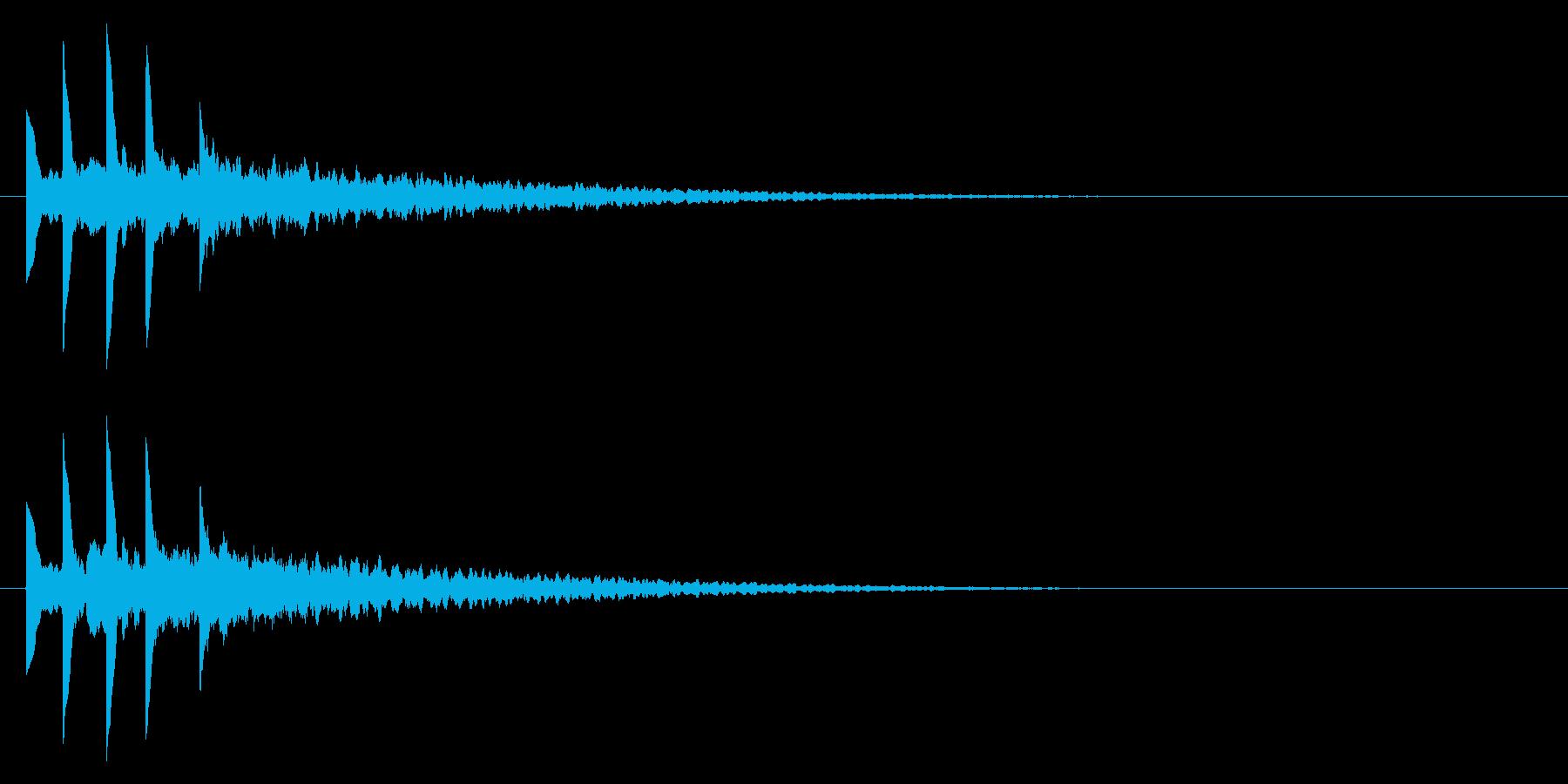 パソコンの起動音風ジングル3の再生済みの波形
