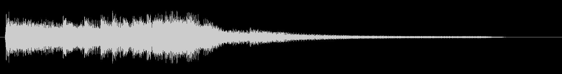 かっこいいピアノのジングルの未再生の波形