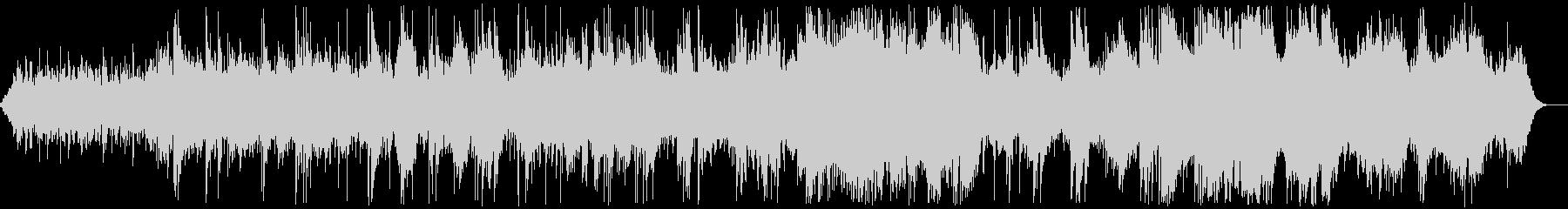 シンセパッドとガットギターのアンビエントの未再生の波形
