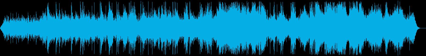 シンセパッドとガットギターのアンビエントの再生済みの波形