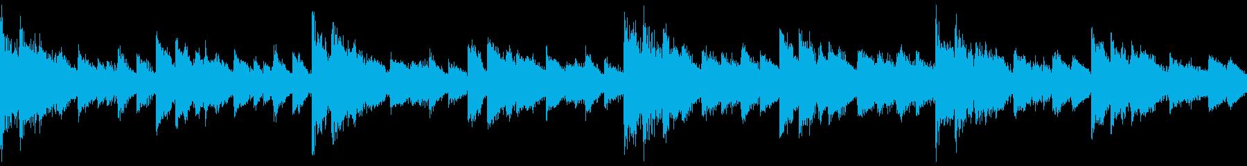 【ループ再生】幻想的・癒しのあるBGMの再生済みの波形