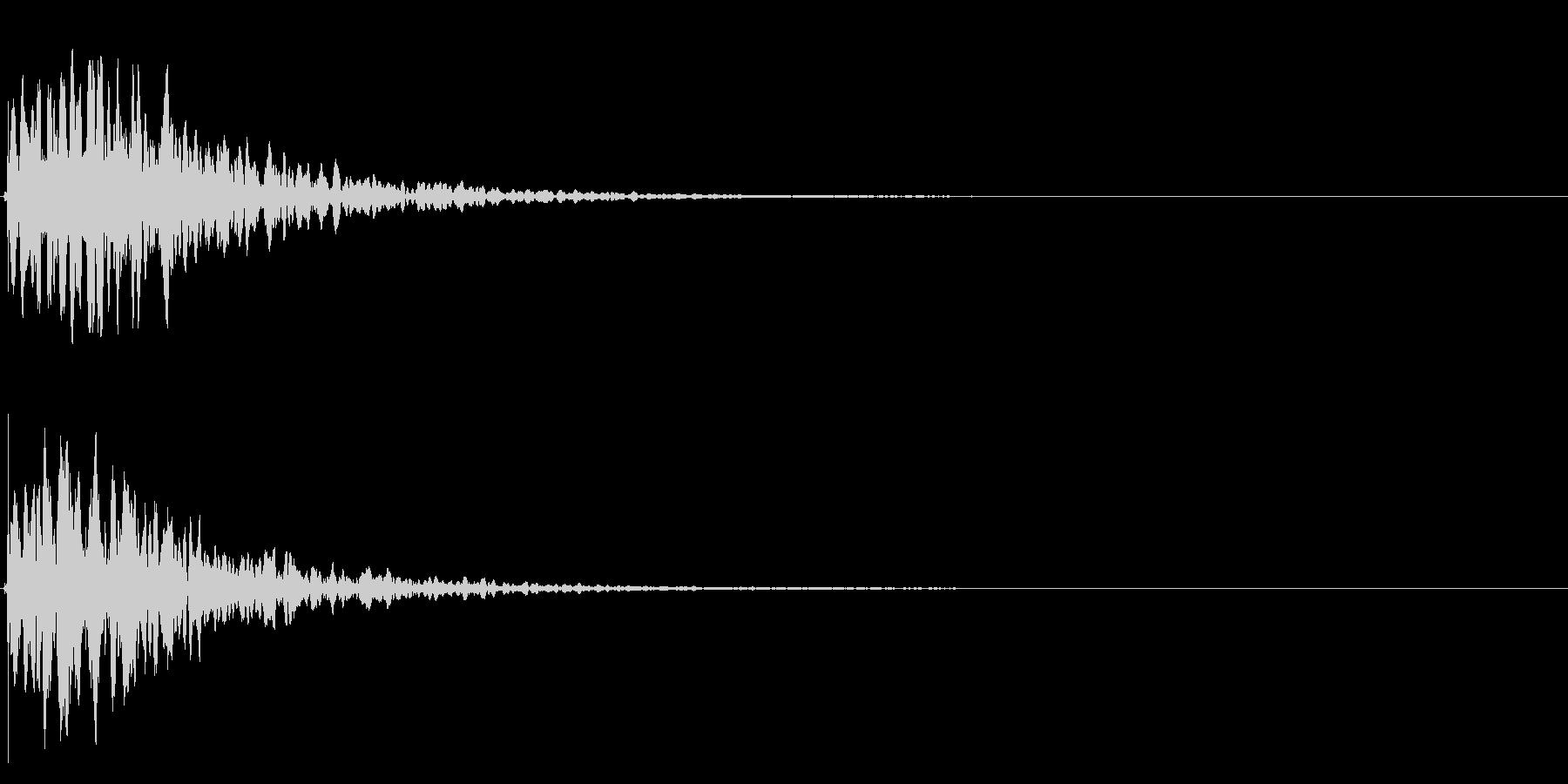 ゲームスタート、決定、ボタン音-097の未再生の波形