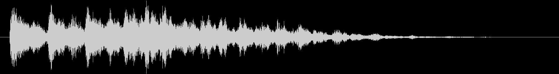シンセサイザーによる爽やかなサウンドロゴの未再生の波形