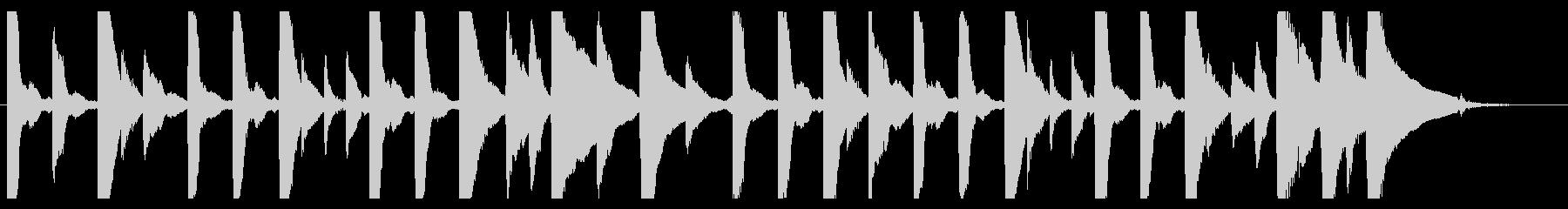 ジングル - 曇りの日の曲の未再生の波形