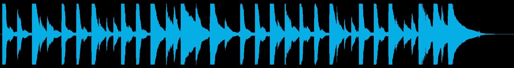 ジングル - 曇りの日の曲の再生済みの波形