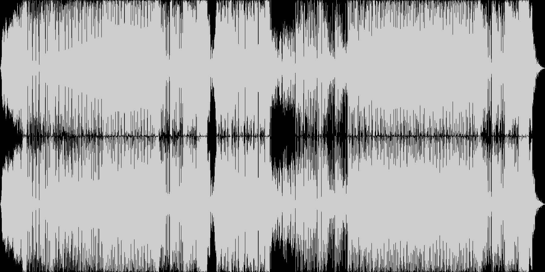 インパクト重視の攻撃的なEDMの未再生の波形
