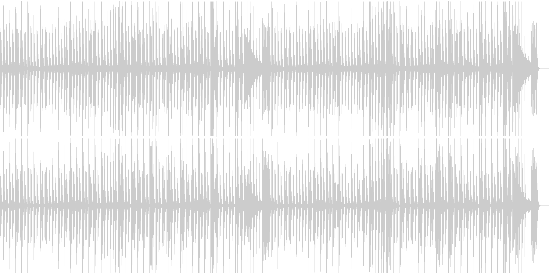 ほのぼのしたコミカルタッチな劇半の未再生の波形