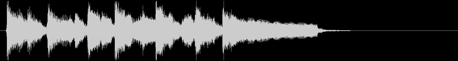 かっこかわいいリコーダーのファンク系ロゴの未再生の波形