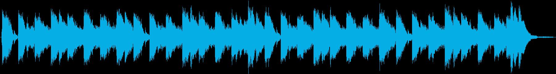 80年代のテクノポップ風ジングルの再生済みの波形