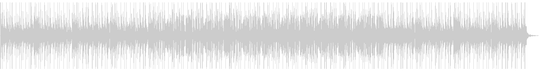 (夏)癒し風鈴とフルートの日本風ビートの未再生の波形