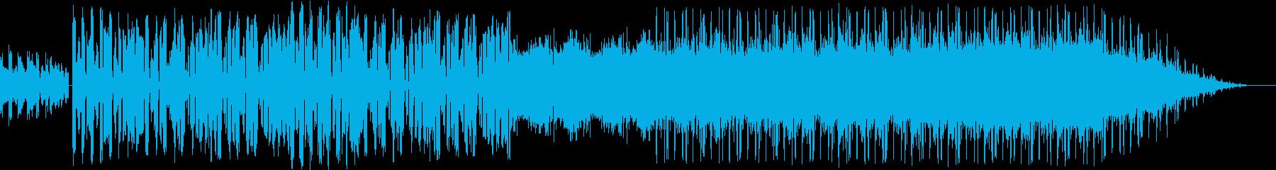 クリスマスの雰囲気のエレクトロポップの再生済みの波形