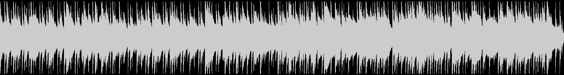 平和な雰囲気のBGM(ロング・ループ)の未再生の波形