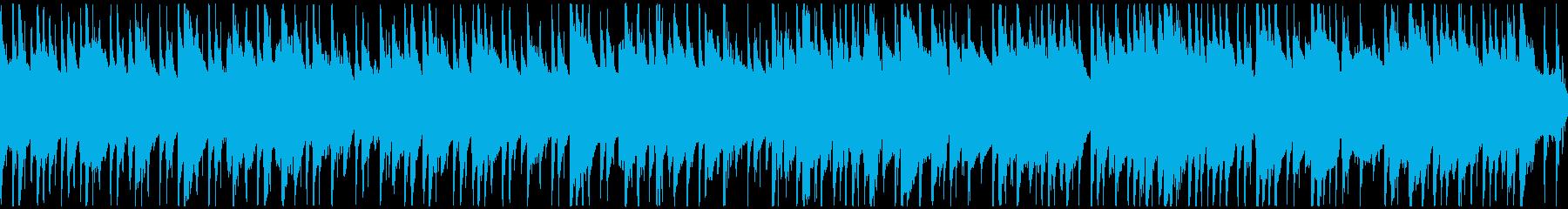 平和な雰囲気のBGM(ロング・ループ)の再生済みの波形