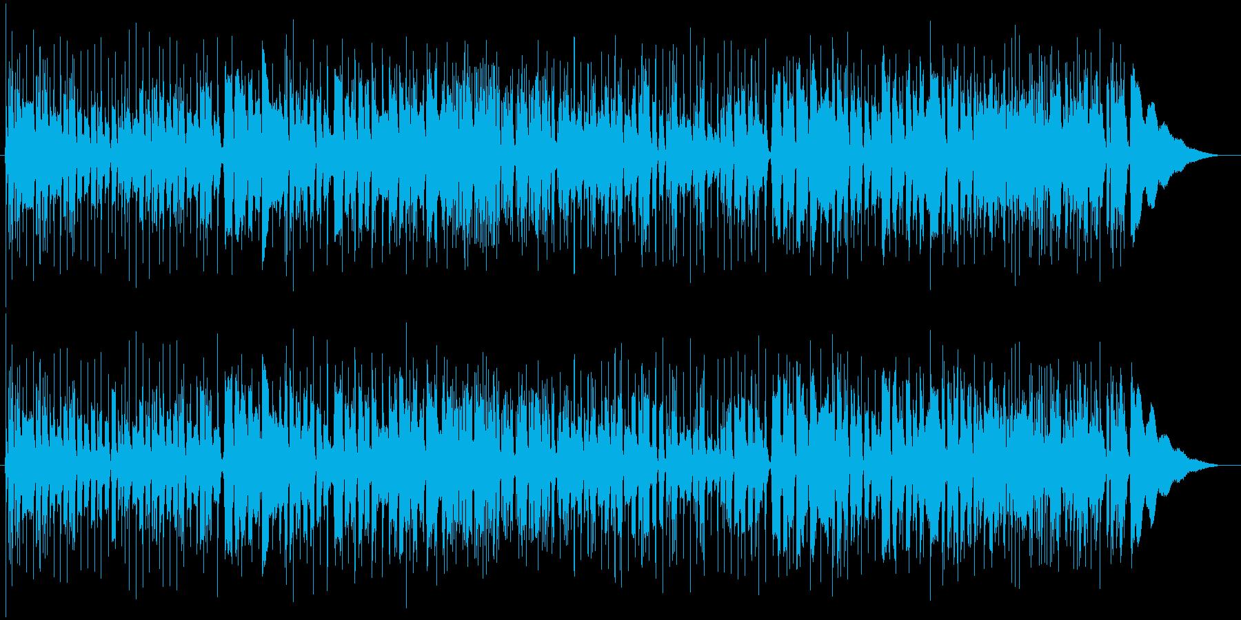 スラム奏法アコギソロギターの再生済みの波形