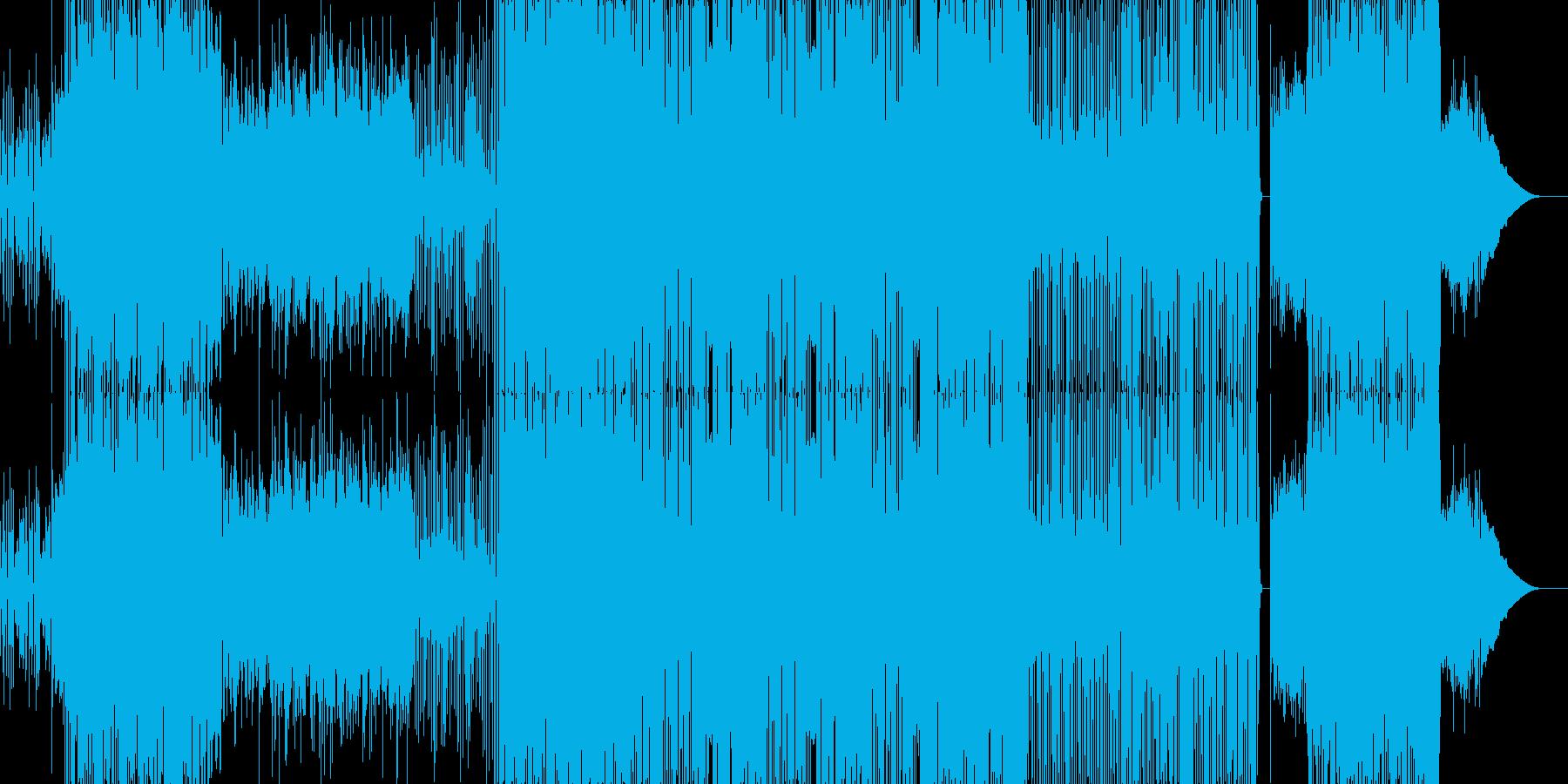 ファンキーなロックの再生済みの波形