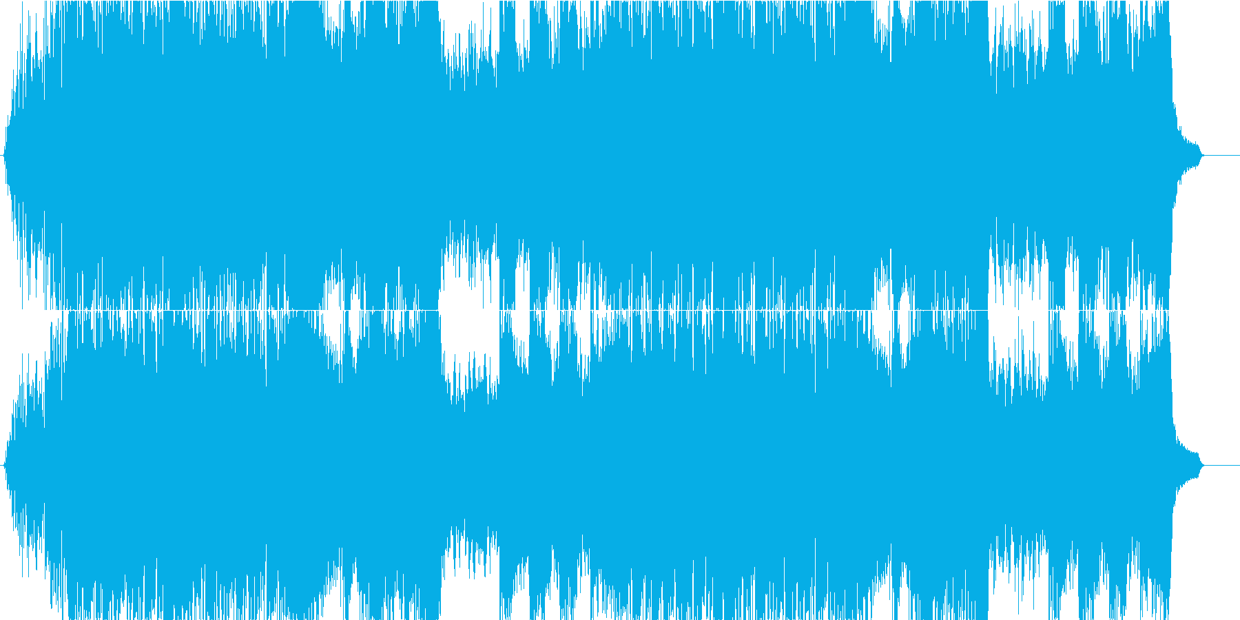 ダークファンタジーの再生済みの波形
