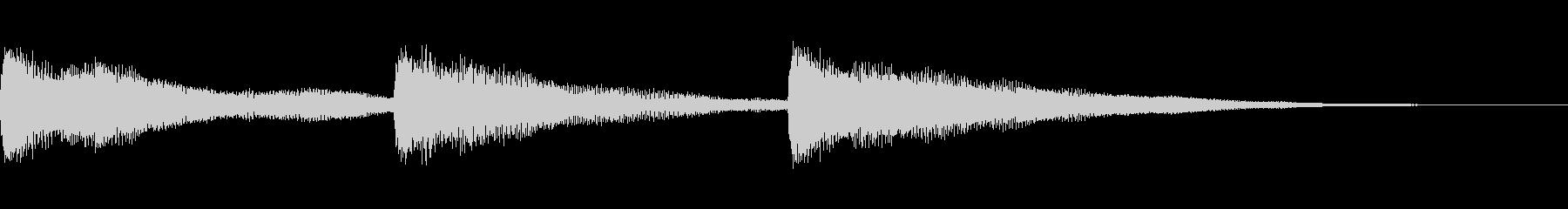ピアノ お辞儀・礼の時の音2の未再生の波形