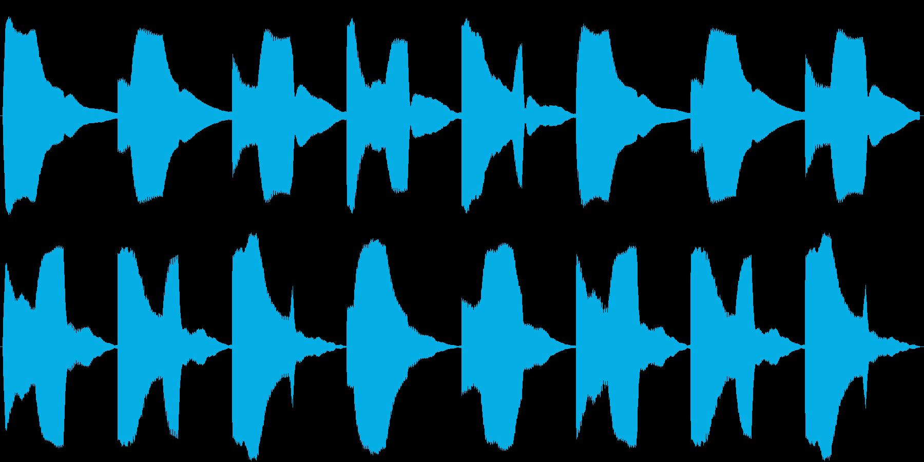 カウントダウン タイマー 時限爆弾の再生済みの波形
