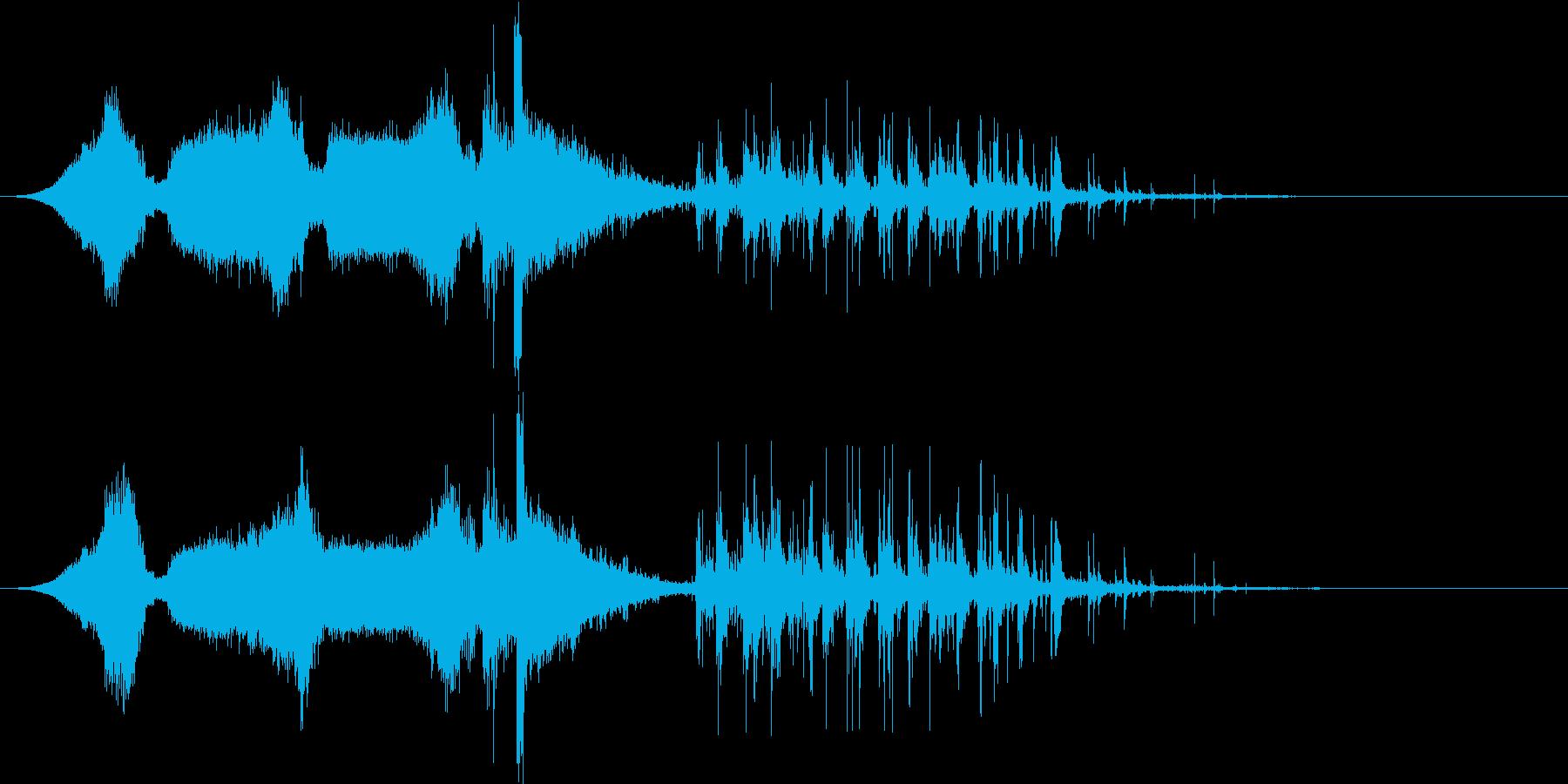 シーンビークルが崖から遠ざかるガー...の再生済みの波形
