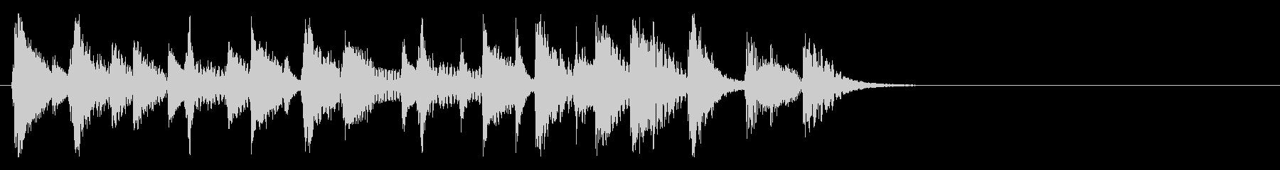 お洒落で洗練された短いジャズピアノ01の未再生の波形