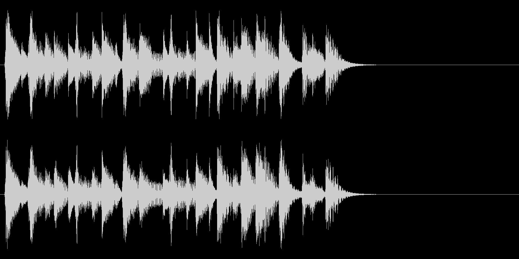 お洒落でリズミカルな6秒ジャズピアノ1の未再生の波形