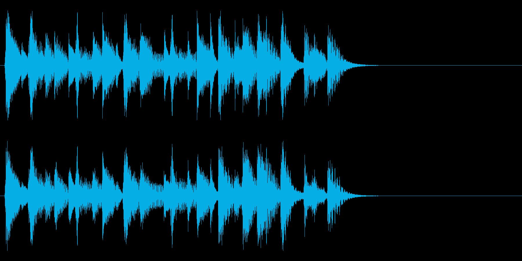 お洒落でリズミカルな6秒ジャズピアノ1の再生済みの波形