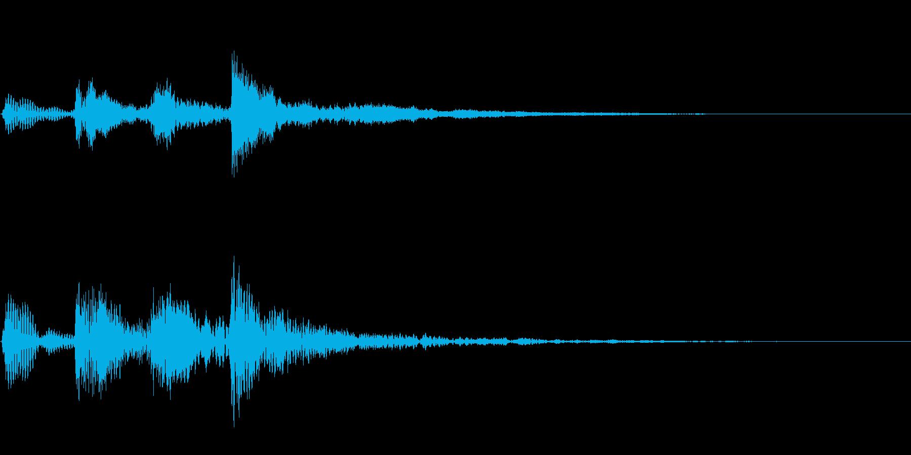 弦楽 お知らせ音 場面転回 ジングルの再生済みの波形