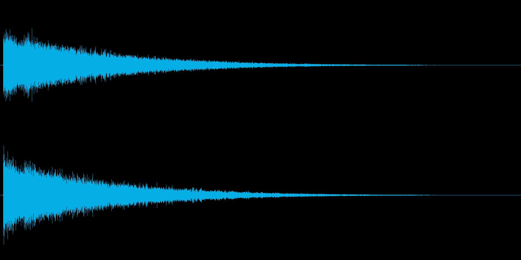 シャン、シャン、シャン…と高音がエコー…の再生済みの波形
