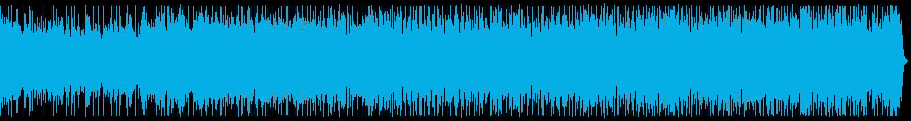スロー、ダークなメタルBGMの再生済みの波形
