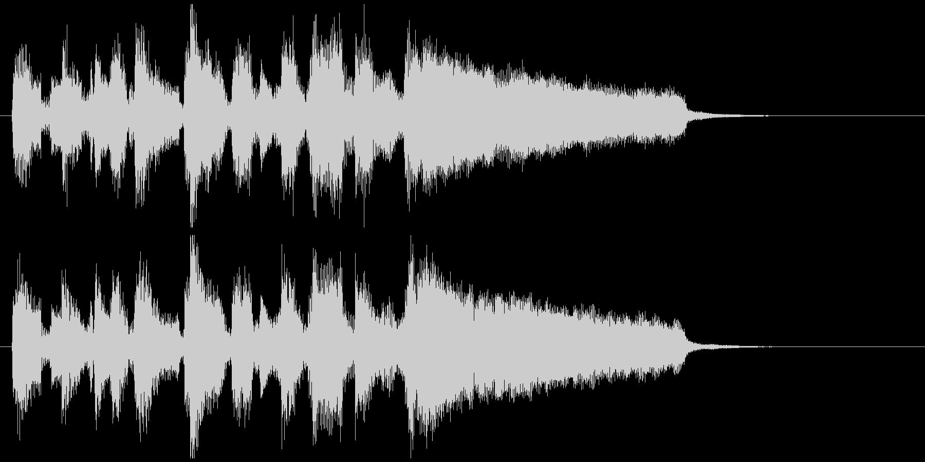ボサノバ、お洒落な場面転換系アイキャッチの未再生の波形