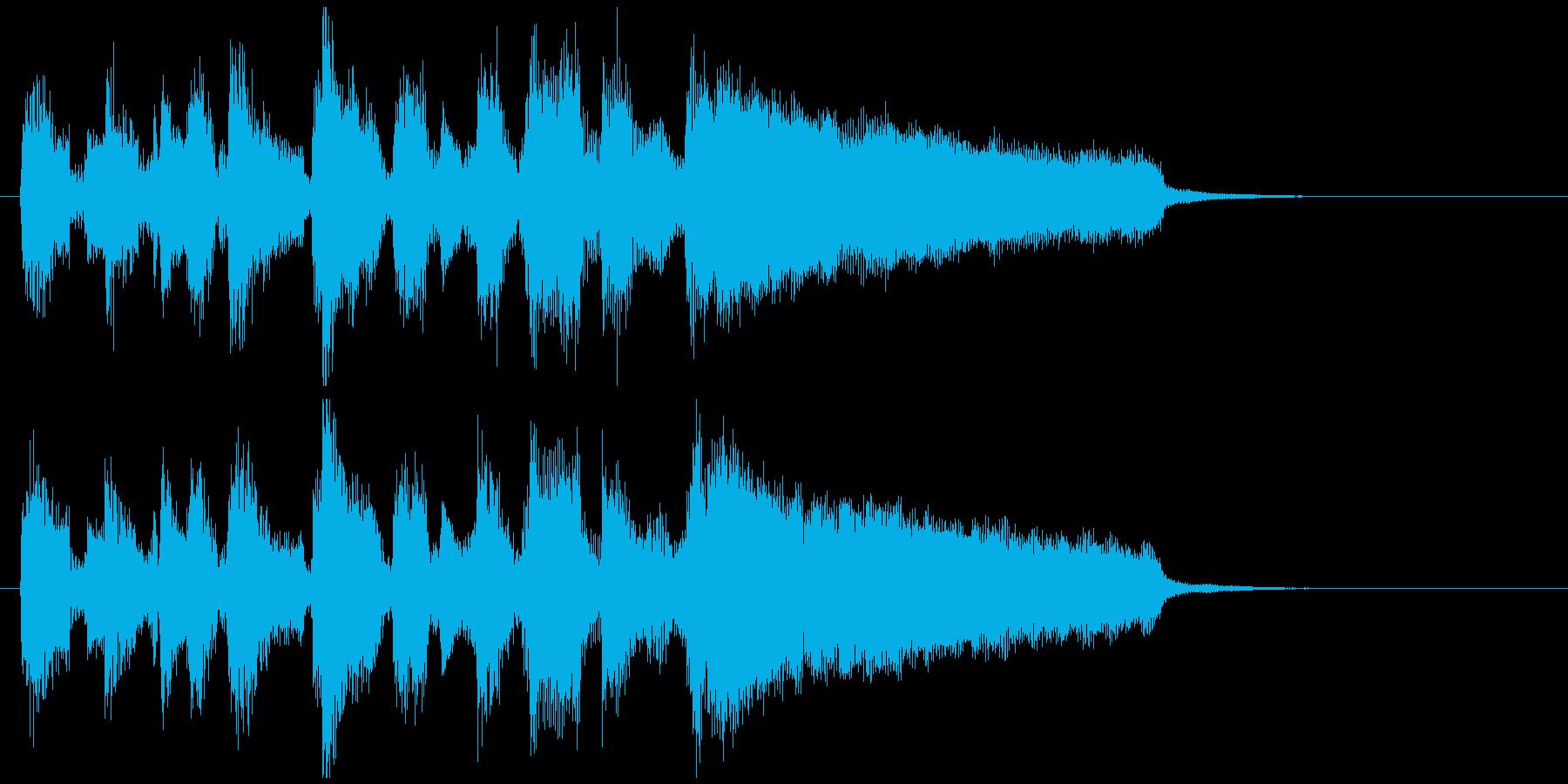 ボサノバ、お洒落な場面転換系アイキャッチの再生済みの波形