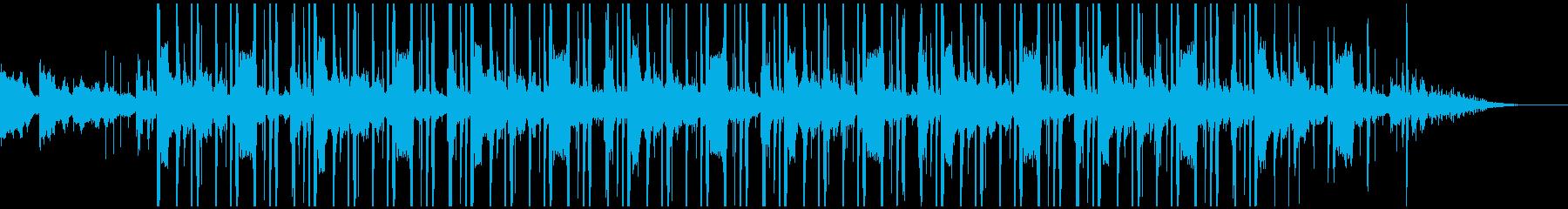 120bpmの静かな雰囲気のビートの再生済みの波形