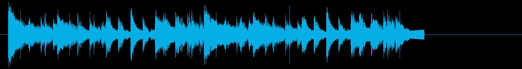 【16秒】シンプルなギターのジングル☆の再生済みの波形