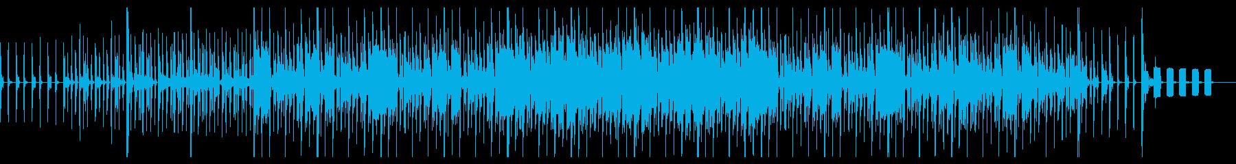 文房具でGo!オフィス用品の音を使った曲の再生済みの波形