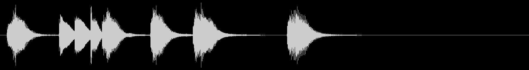 ほのぼのカワイイ ピアノサウンドロゴの未再生の波形