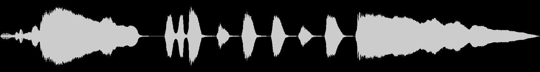 勝利のラテン語トランペットアクセント2の未再生の波形