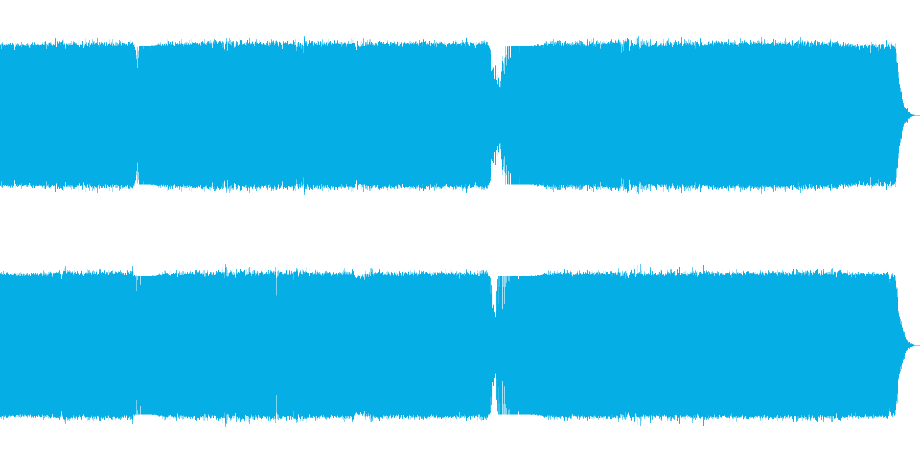 ペース、テクノダンスフロア、家。の再生済みの波形