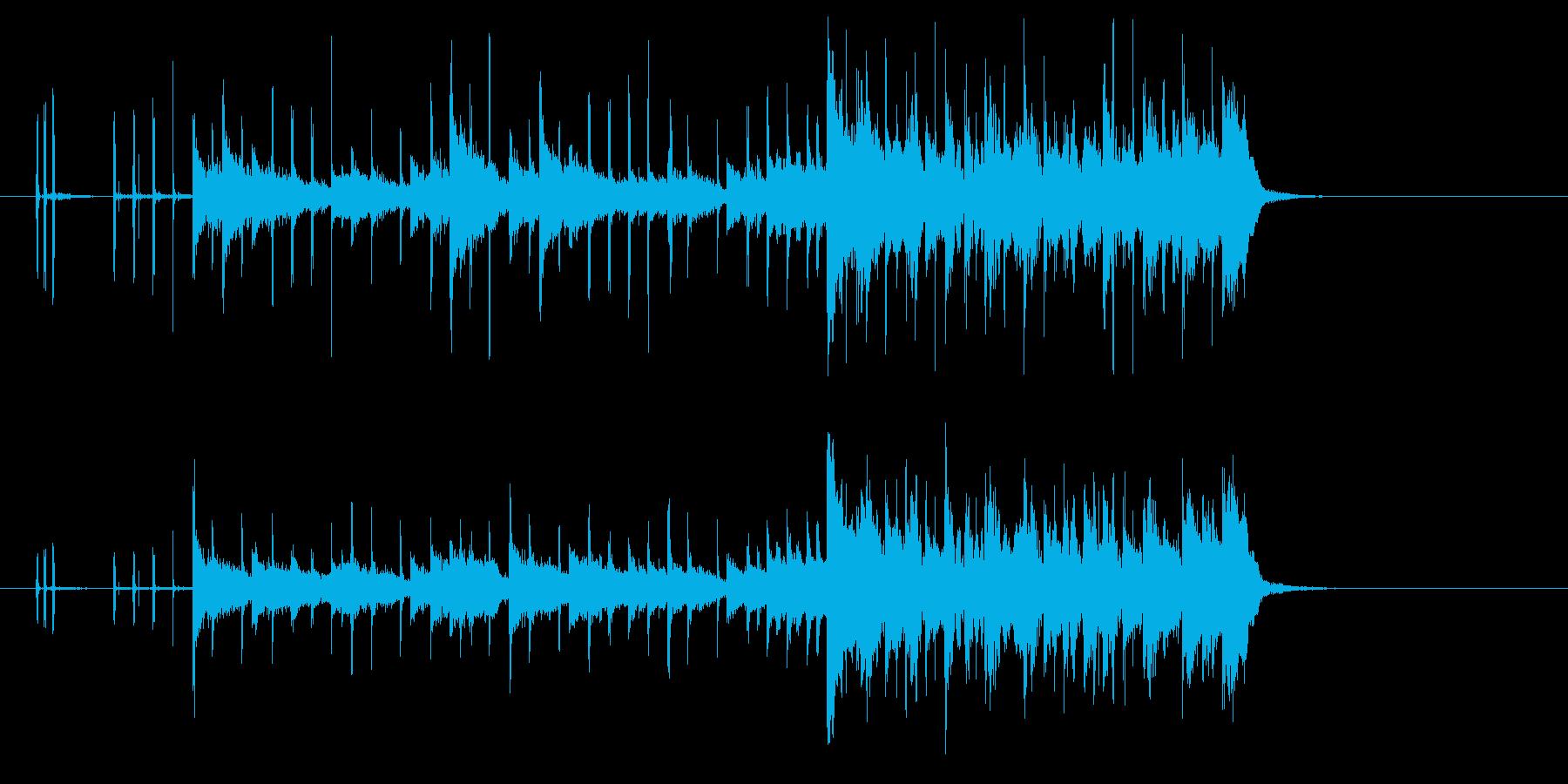 アップテンポなテクノ音楽の再生済みの波形