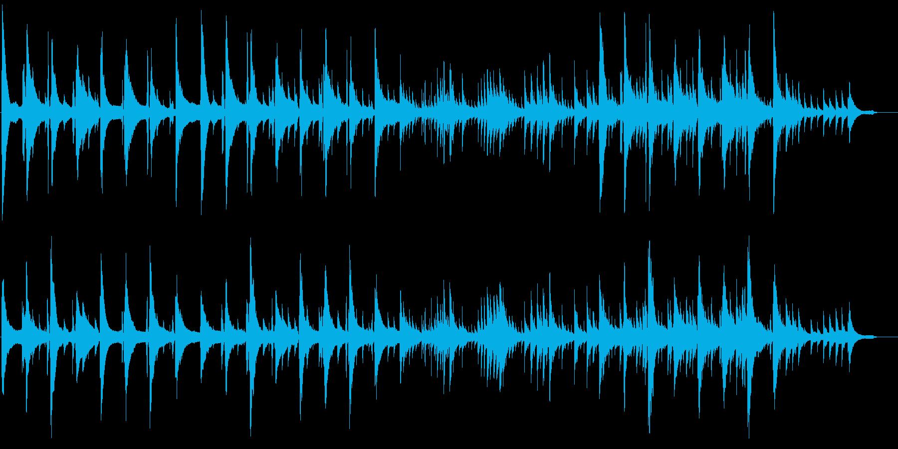しっとりほのぼのしたBGM1の再生済みの波形