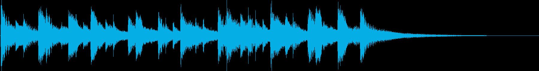 ほのぼの・牧歌的なジングル・カントリー調の再生済みの波形