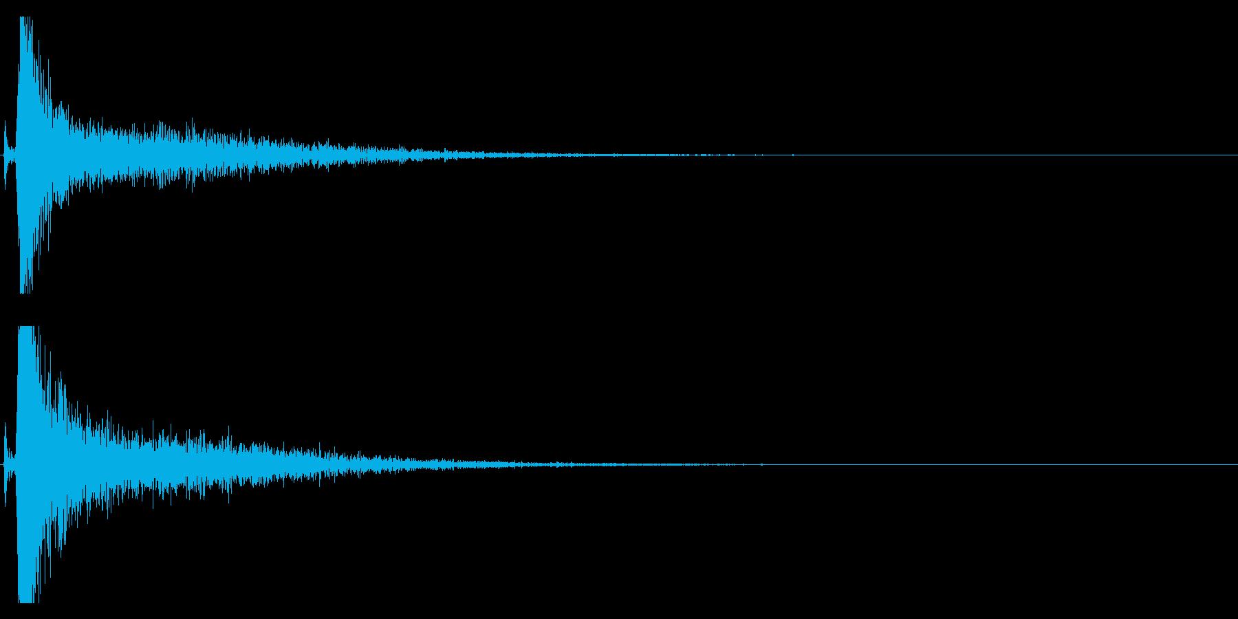 【生録音】側溝の金属の蓋を踏みつける音の再生済みの波形