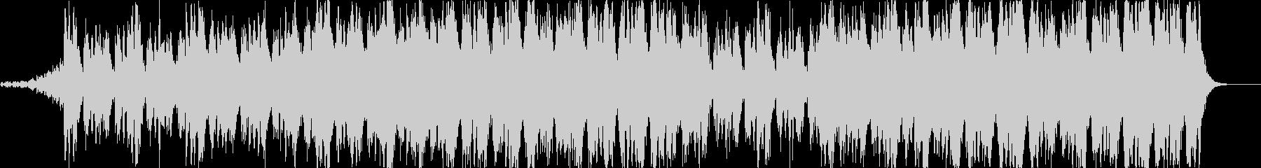 ポジティブなオーケストラ曲の未再生の波形