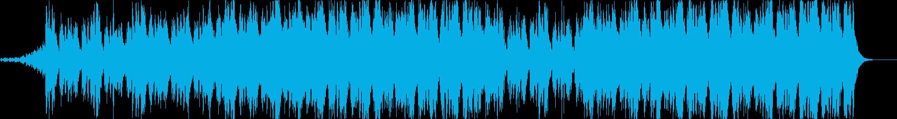 ポジティブなオーケストラ曲の再生済みの波形
