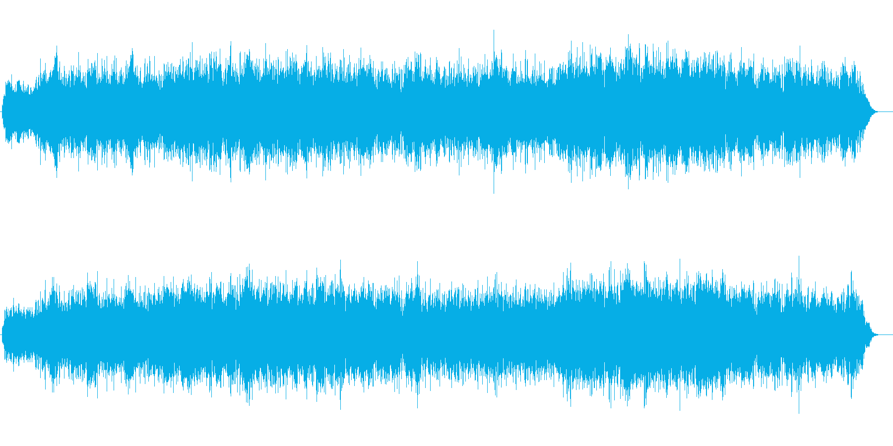 尺八メインのポップな和風BGMの再生済みの波形