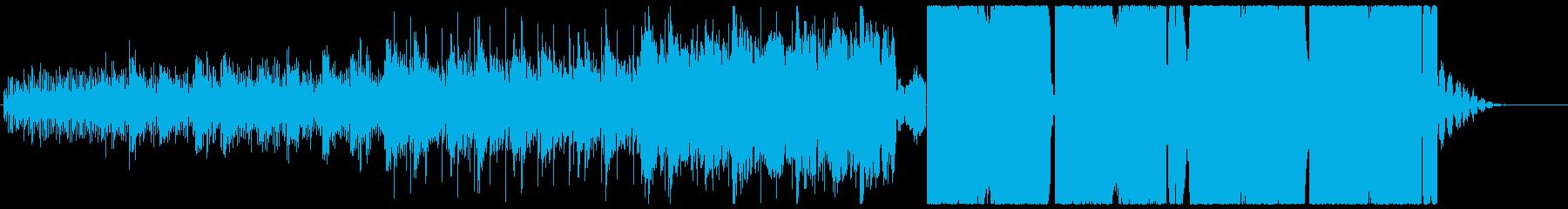ゆっくりめで爽やかな四つ打ちの再生済みの波形