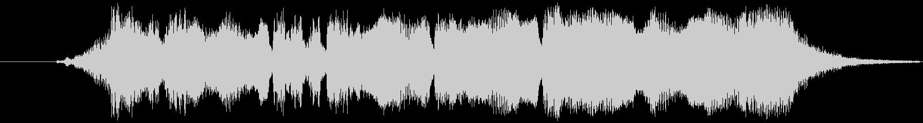 金管楽器による優しいファンファーレの未再生の波形