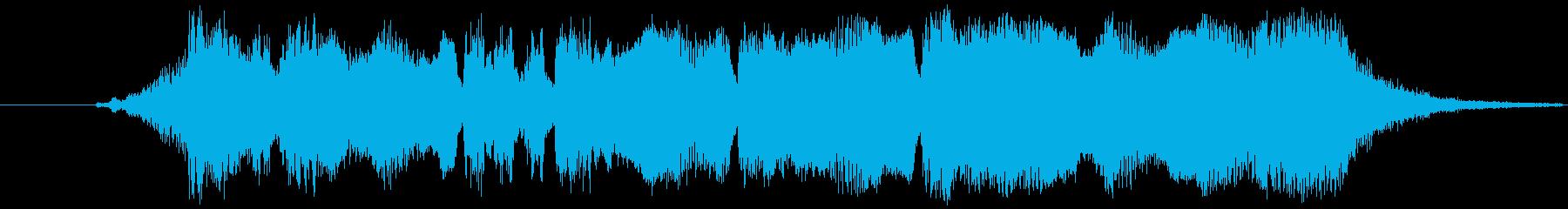 金管楽器による優しいファンファーレの再生済みの波形